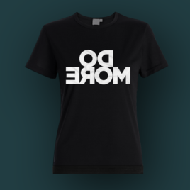 Do more - mirrored girl's t-shirt. In black color.