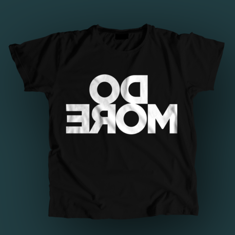 Do more - mirrored men's shirt. In black color.