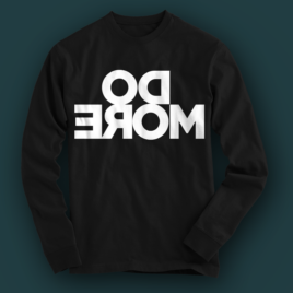 Do more - mirrored unisex sweatshirt in black color.