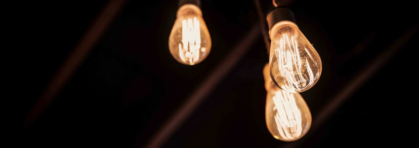 Picture of light bulbs symbolises new ideas